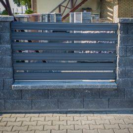 Przęsło ogrodzeniowe 120x200cm ze sztachet metalowych Euromet